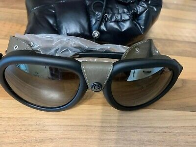 Moncler MATTE BLACK/SMOKE unisex Sunglasses Brand New