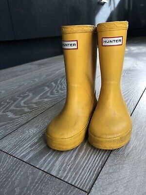 hunter wellies Infant Kids Boys Girls Size 7 Yellow