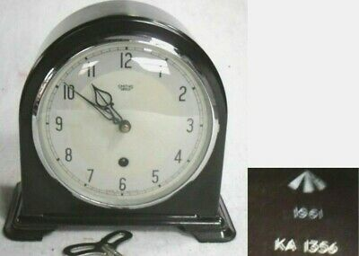 1961 Rare Smiths Bakelite Mantel Clock With Military Broad Arrow, Fully Restored