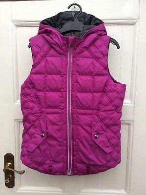 IVIVVA LULULEMON Girls Reversible Pink Down Padded Hoodded Vest Bodywarmer 12