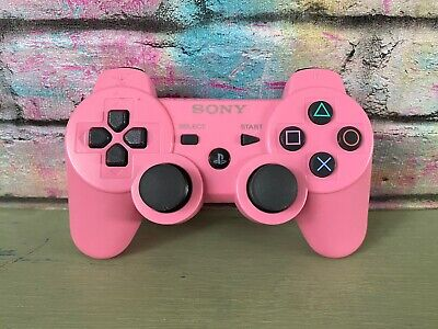 Genuine Official Sony Playstation 3 PS3 Wireless Controller Pink Sixaxis (2)