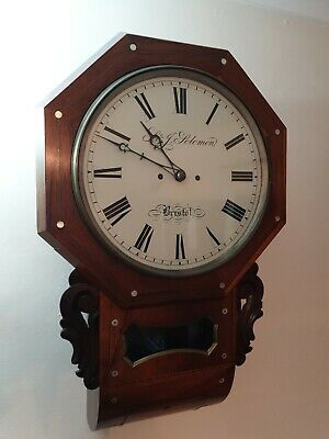 English Drop Dial Double Fusee Clock