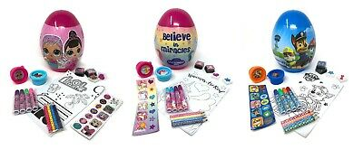 Colouring Pencils Marker Pens Ink Pads Toys Stationery Fun Stickers Egg Set