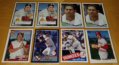 Lot Of (8) 2006 Topps Walmart Exclusive Cards Musial Rodriguez Mattingly #Wm
