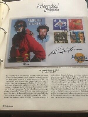 RANULPH FIENNES Signed  Autographed Editions First Day Cover