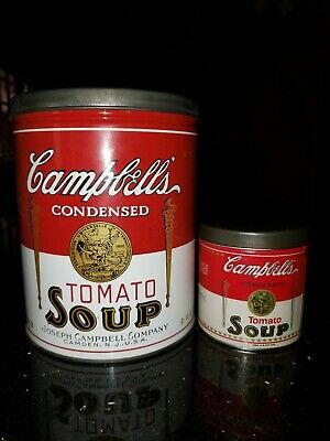 Vintage CAMPBELL'S TOMATO SOUP Large and Small Tins