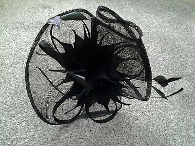 Black fascinator from Debut at Debenhams with headband beautiful feather detail