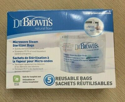Dr. Brown's Microwave Steam Sterilizer Bags - 4 Reuseable Bags NEVER USED