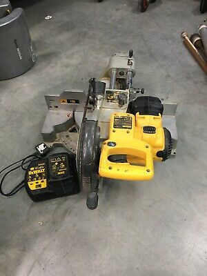 Dewalt DW017 24 Volt Cordless Mitre Saw - 2 Batteries And Charger