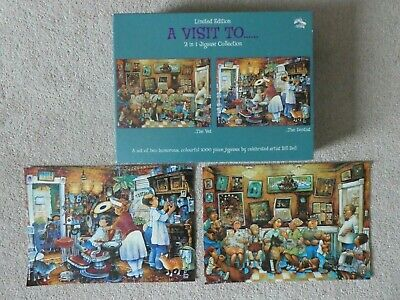 WH SMITH Jigsaw Puzzle - 2 x 1000 pieces - A VISIT TO.. The Vet + The Dentist