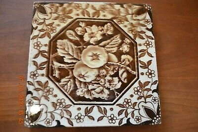 Victorian Antique Aesthetic Tile Browns & White Persimmons?