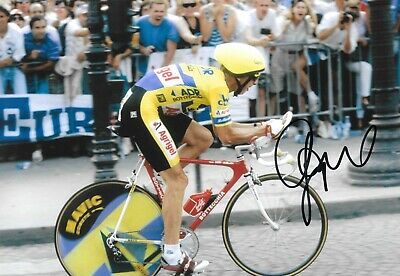 greg lemond on his way to win the tour de france 1989 signed 12x8 photo