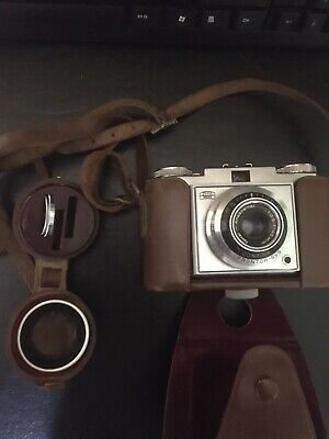 Zeiss Ikon Contina Film Camera 35mm Film Camera circa 1950s With Case And Extras