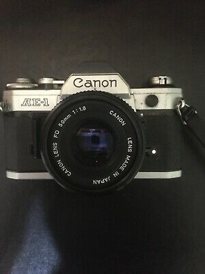 Canon AE-1 35mm SLR Film Camera with 50mm f/1.8 lens