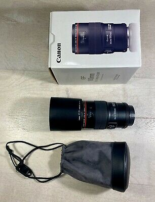 Canon EF 100mm f/2.8L IS USM Macro Camera Lens - Pristine