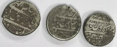 Durrani,Rupee 1793-1801,Afghanistan shah Zaman,Harat ,3 Silver Coins,large Flan