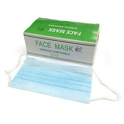 500 Pcs Disposable Face Mask Respirator Surgical Medical Dental Industrial 3 PLY