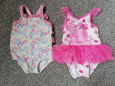 Baby Girls Swimsuits (Monsoon And Peppa Pig) Age 3-6months
