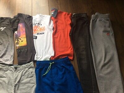 Boys Clothes Bundle Age 9-10 Years Tops  T.shirts Shorts Jeans Joggers,