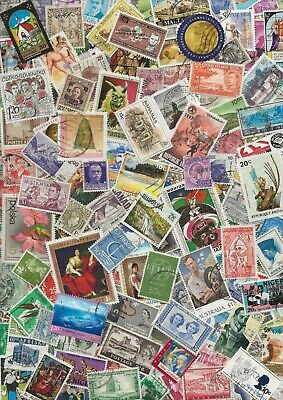 300 WORLD STAMPS FROM EARLY 1900s TO NEW - ALL DIFFERENT