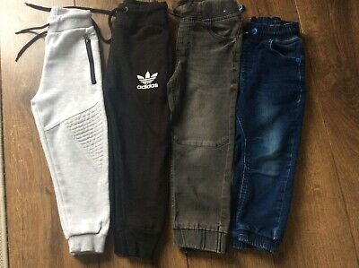 BOYS CLOTHES BUNDLE 4x  Jeans Joggers Trousers Age  3-4 Years *