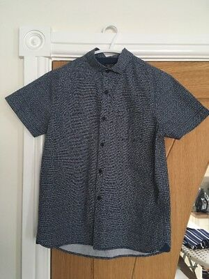 Gorgeous Boys  Blue Patterned NEXT SHIRT, Aged 9 Yrs, Exc Cond