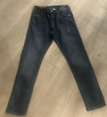 H&M Boys Blue Jeans Relaxed Tapered Leg Age 13-14 Years