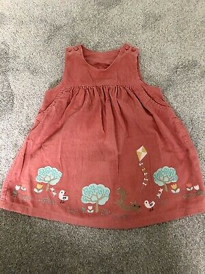 Marks And Spencer (M&S) Baby Girls Pinafore Dress - Age 6-9 Months
