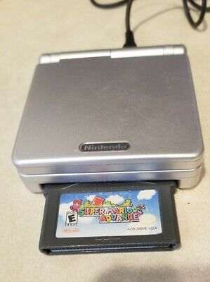 Nintendo Gameboy Advance SP AGS-001 for parts  or repair **With Charger and Game