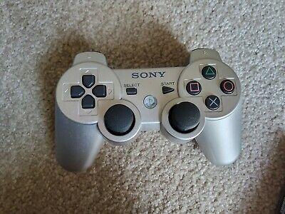 Original Sony PlayStation 3 Ps3 Dualshock Sixaxis Wireless Controller- Silver