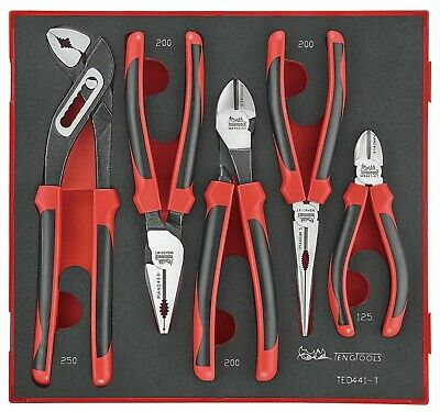 Teng Tools TED441-T 5 Piece Plier Set