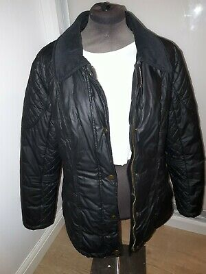 Now REDUCED! Marks and spencer black quilt biker style jacket  size 16
