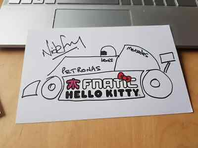 Signed Nick Fry Formula 1 Artwork Charity Auction Ceo Mercedes F1 Fnatic