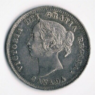 Victoria 5 cents 1888 - first 8 over 3, last 8 repunched