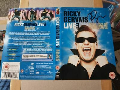 Signed Ricky Gervais Live Dvd Sleeve Charity Auction Extras The Office Simpsons