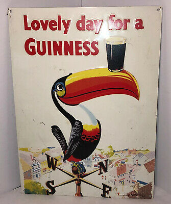 Lucky Brand Lovely Day For a Guinness Toucan Mascot Balancing 2 Pints T-Shirt
