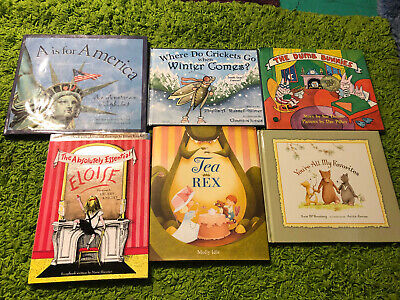 Childrens Reading Bedtime-Story Time Kids Hardcover Assorted Books Lot of 6