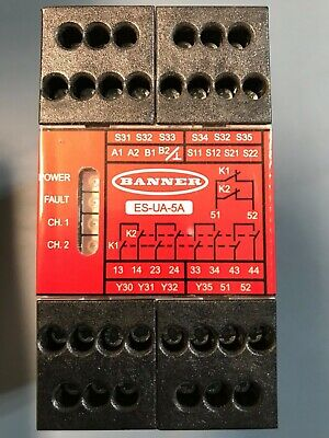 BANNER SAFETY RELAY ES-UA-5A Part # 66091