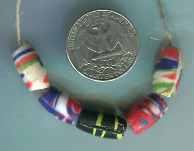 African Trade beads Vintage Czech glass beads nice mixed old fancy beads