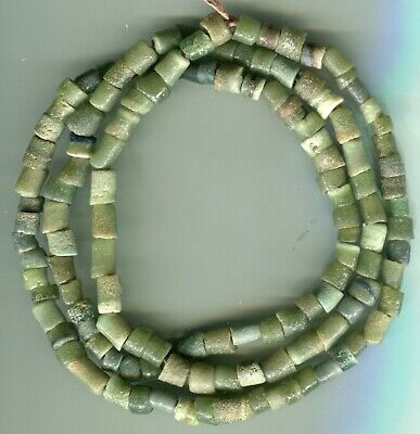 African Trade beads old Ghana Krobo sandcast or powder glass beads very nice