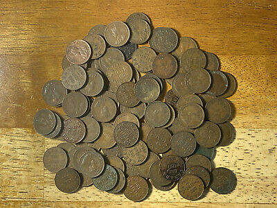Lot of (100) Canada George V Small Cents 1920-1936