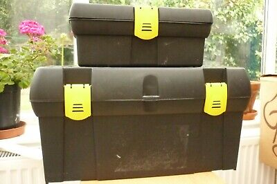 """2 x Matching Stanley Tool Boxes Large & Small 19"""" & 12.5"""""""
