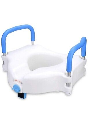 """Health Line 5"""" Elevated Raised Toilet Seat Commode Seat Riser"""