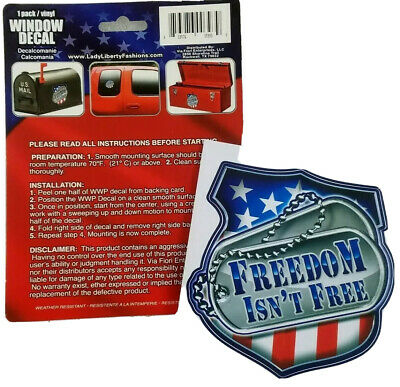 Freedom isnt free,Flag,Veterans,Military,Support Our Troops,3/%,1/%,Vinyl Decal
