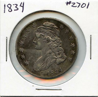 1834 50C Capped Bust Silver Half Dollar. Circulated. Lot #2475