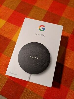 Google Nest Mini (2nd Generation) Charcoal Smart Speaker with  Assistant
