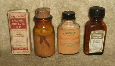 Early 1900's Lot of Pharmacy Medicine Bottles and Related