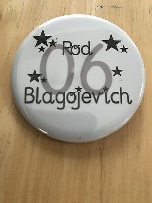 RARE Illinois Rod Blagojevich For Governor Button pinback 2006 W/ Stars