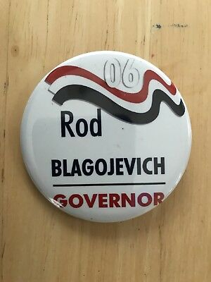 """RARE Illinois Rod Blagojevich For Governor Button pinback 2006 """"Rod Governor"""""""
