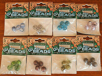 8 packets of 12mm glass beads   (Y14)